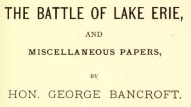 The battle of lake erie essays